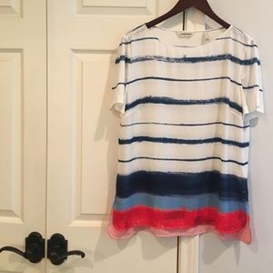 LANDS END Multi Striped Top 14